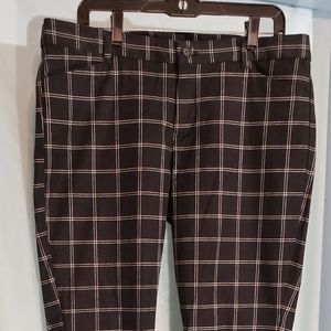 Gap slim black and white sz 14, ankle length pant